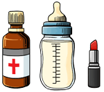 Medicines, Baby food, Not liquid cosmetics