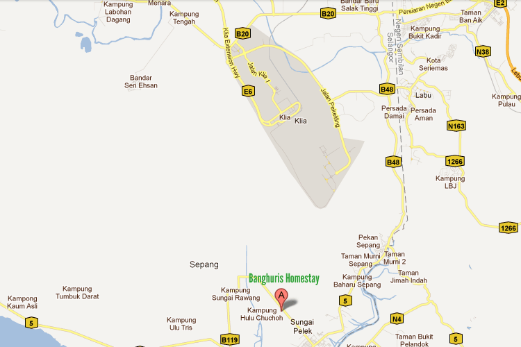 Map to Banghuris Homestay