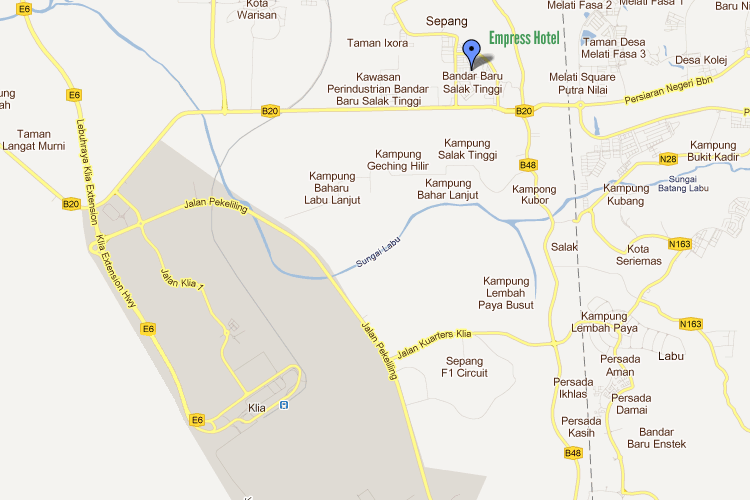 Map to Empress Hotel, Sepang