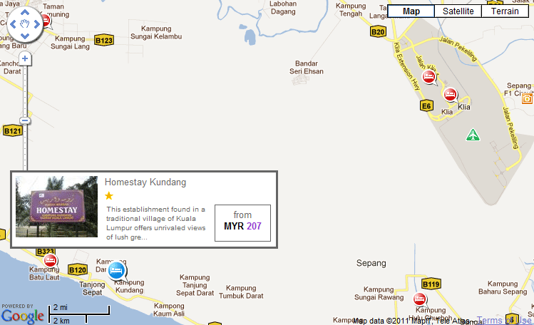Map to Homestay Kundang