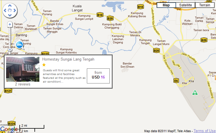 Map to Homestay Sg Lang Tengah