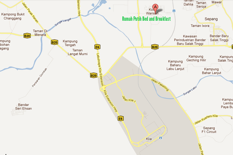 Map to Rumah Putih Bed and Breakfast