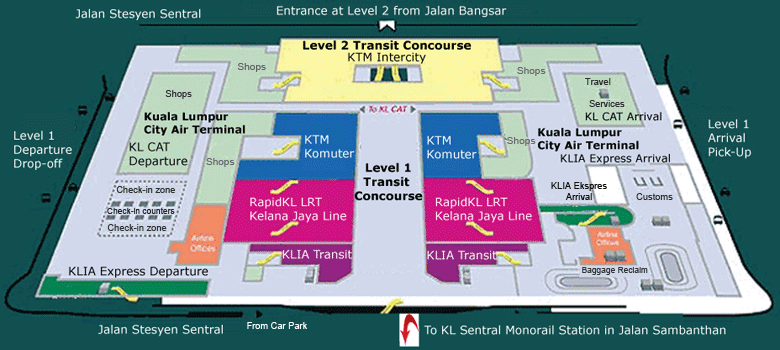 KL Sentral Layout Plan