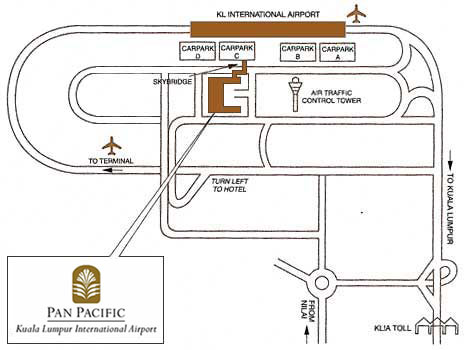 Map to Pan Pacific Hotel