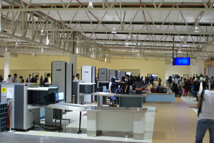 Customs check, international departure, LCCT