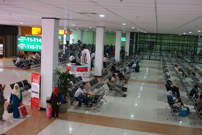 Waiting areas, international departure, LCCT