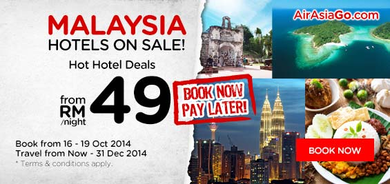 Airasia promotion oct 2014 malaysia lcct relevant for Book now pay later vacation