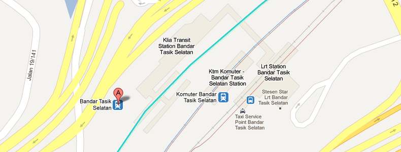 Bandar Tasik Selatan and its surroundings