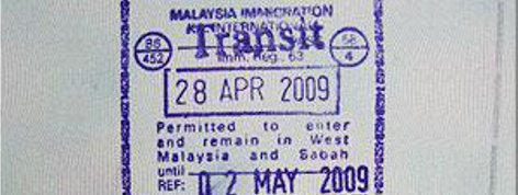 Sample of Transit Visa