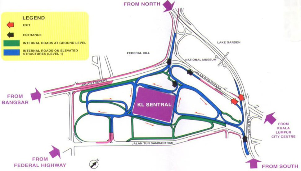 Map to KL Sentral