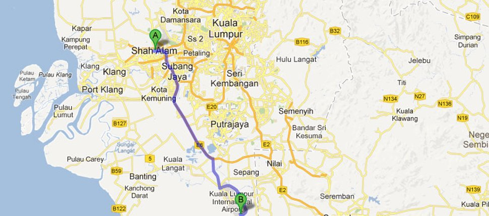 Buses from Shah Alam to LCCT