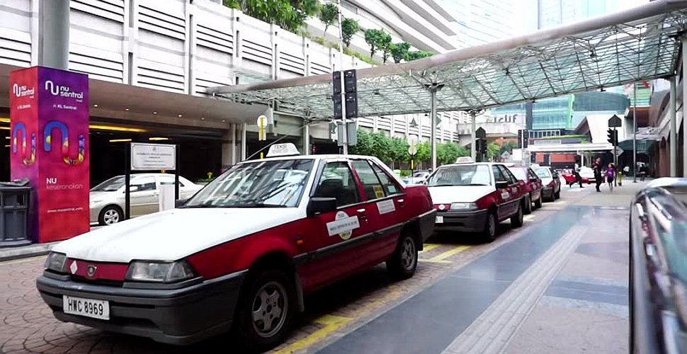 Taxis waiting at KL Sentral