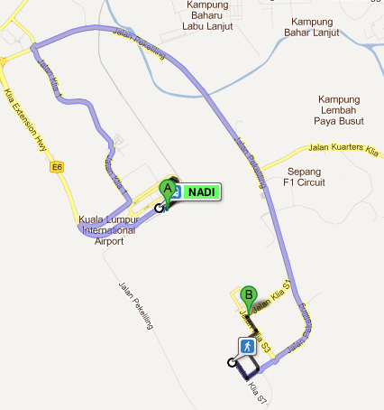 Bus route from KLIA to LCCt