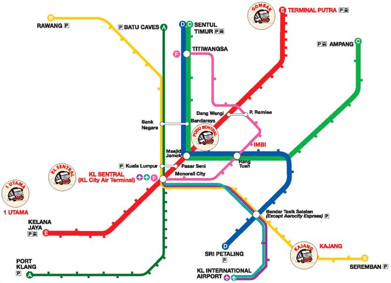 Go Genting Express Easy Access Map