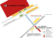KL Sentral to Monorail station