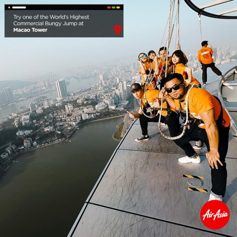 Bungy Jump at Macao Tower