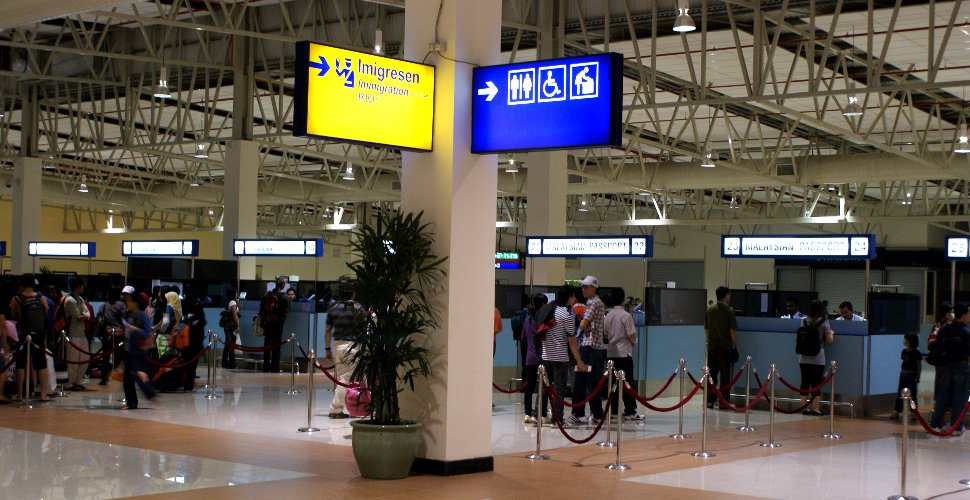 Immigration counters at LCCT
